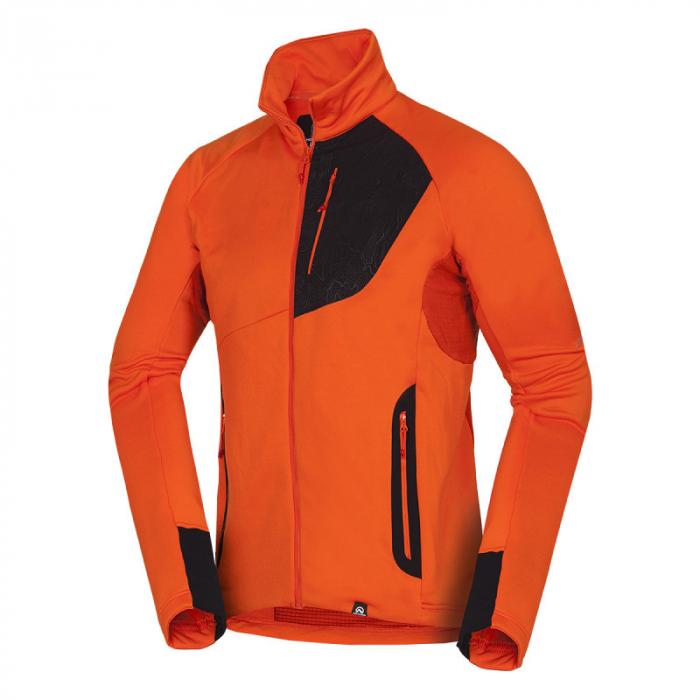 Bluza barbati midlayer fleece NORTHFINDER KREMENEC portocaliu/rosu [0]