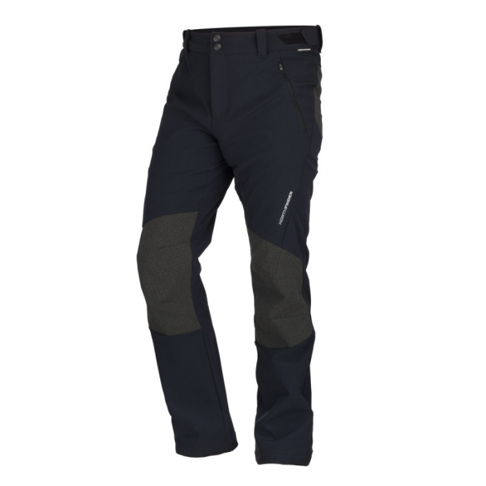 Pantaloni softshell hibrid 3L barbati NORTHFINDER BUSOV negru [0]