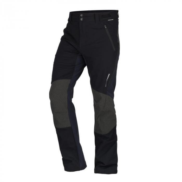 Pantaloni softshell hibrid 3L barbati NORTHFINDER HROMOVEC negru/negru [0]