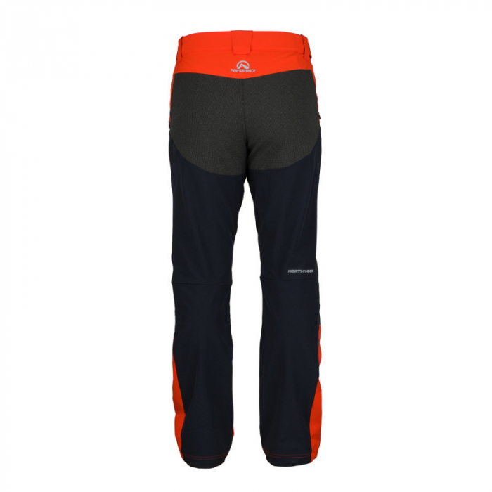 Pantaloni softshell hibrid 3L barbati NORTHFINDER HROMOVEC rosu/negru [1]