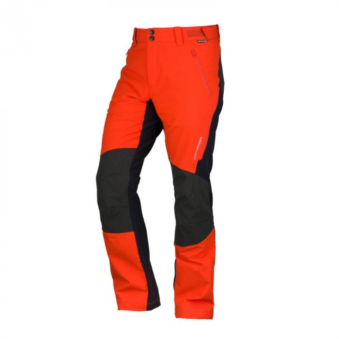 Pantaloni softshell hibrid 3L barbati NORTHFINDER HROMOVEC rosu/negru [0]