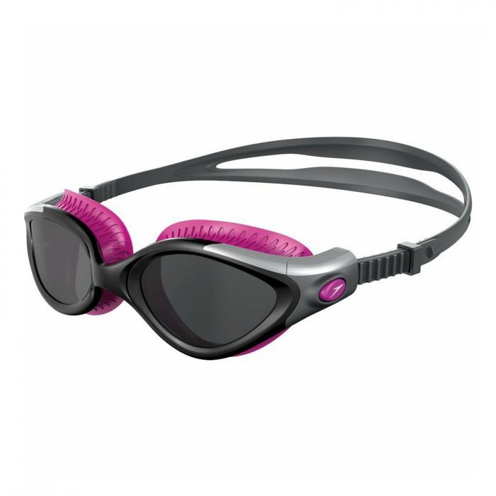 Ochelari de inot pentru femei SPEEDO Futura Biofuse Flexiseal roz/fumuriu [0]