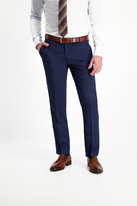 Pantalon elegant LAVARD Travel albastru mix&match (864) [2]