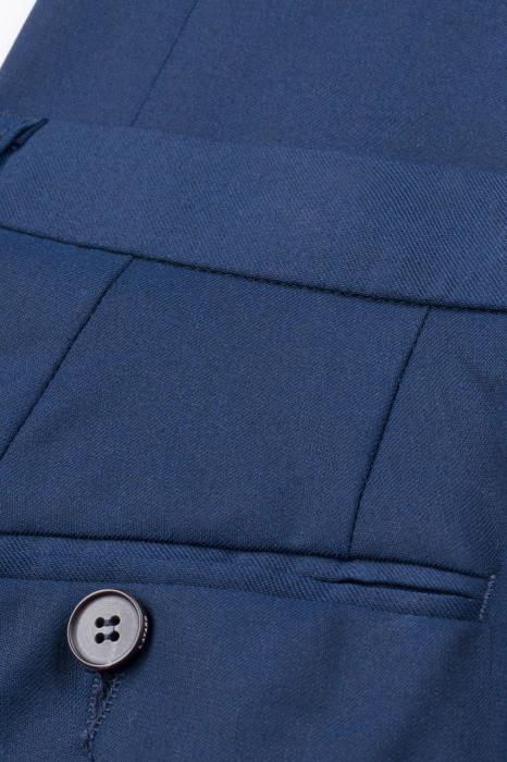 Pantalon elegant LAVARD Travel albastru mix&match (864) [6]