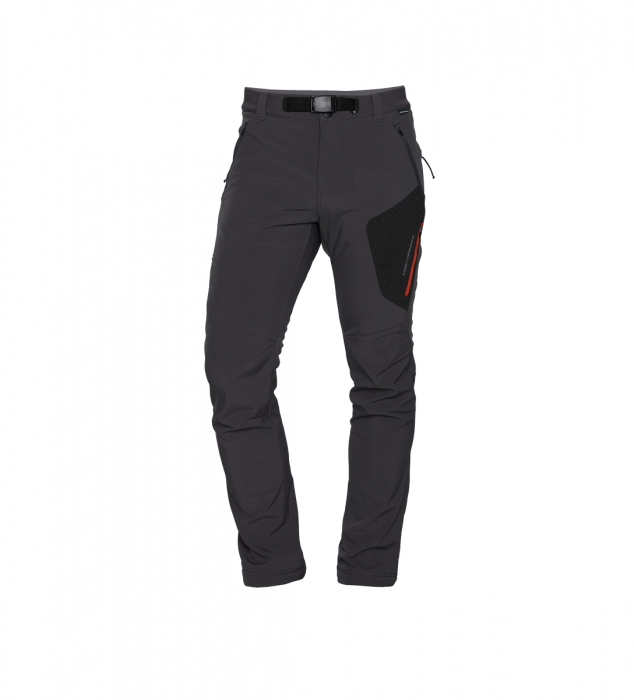 Pantaloni barbati strong-softshell 3L trekking NORTHFINDER Simet gri [1]