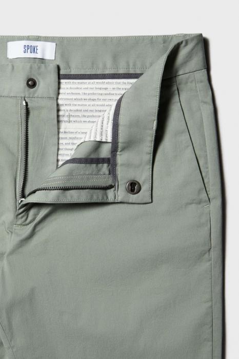 Pantaloni chino bumbac barbati SPOKE SHARP Lightweights vernil [8]