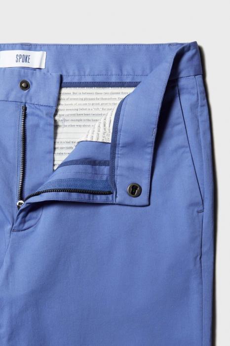 Pantaloni chino bumbac barbati SPOKE SHARP Lightweights albastri [8]