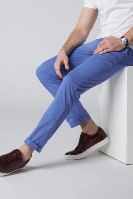 Pantaloni chino bumbac barbati SPOKE SHARP Lightweights albastri [5]
