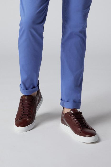 Pantaloni chino bumbac barbati SPOKE SHARP Lightweights albastri [6]