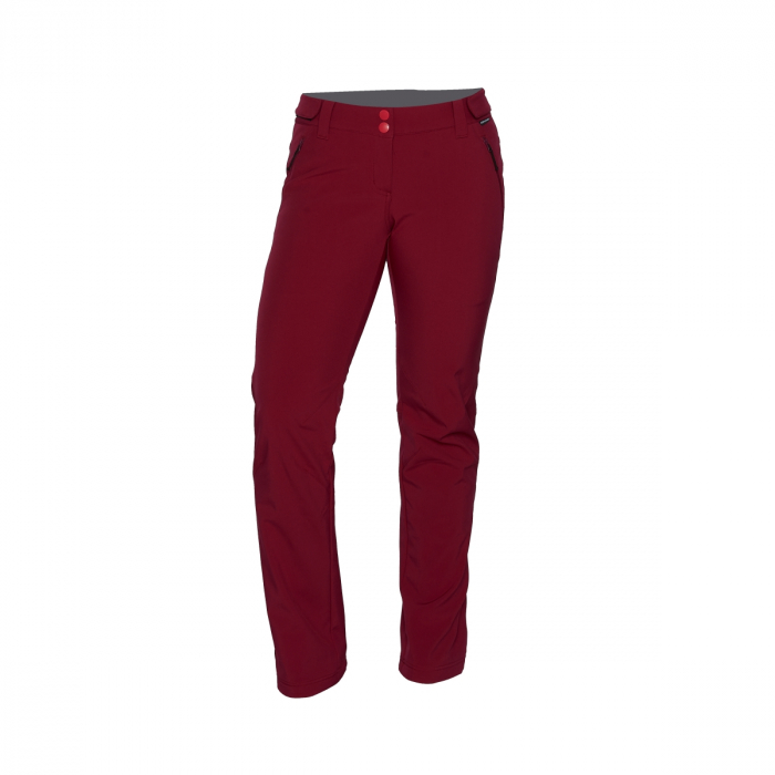 Pantaloni femei strong-softshell 3L trekking NORTHFINDER Simetria cerise [0]