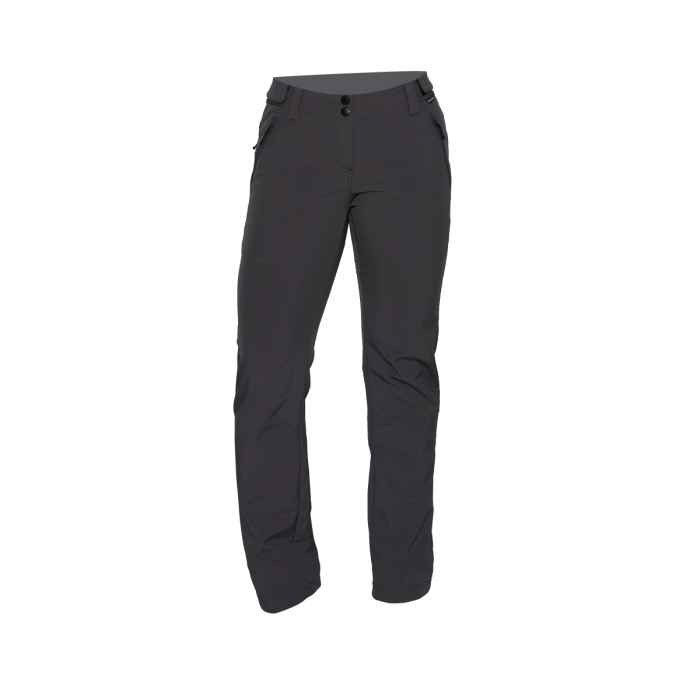 Pantaloni femei strong-softshell 3L trekking NORTHFINDER Simetria negri [0]