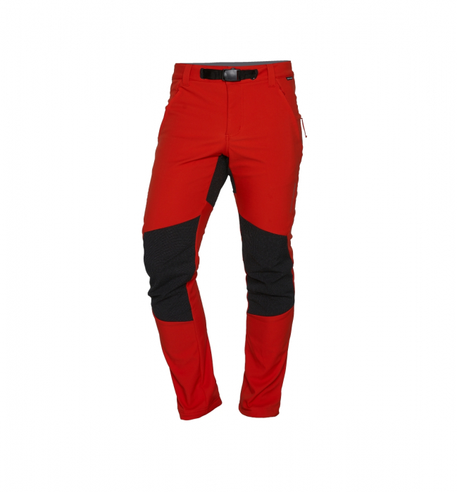 Pantaloni lungi barbati Stretch SoftShell 3L trekking NORTHFINDER Serdz portocalii [0]