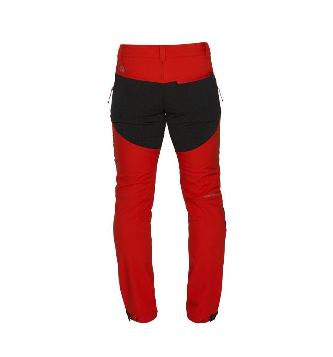 Pantaloni lungi barbati Stretch SoftShell 3L trekking NORTHFINDER Serdz portocalii [1]
