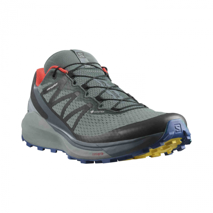 Pantofi alergare barbati SALOMON SENSE RIDE 4 INVISIBLE GTX gri [5]