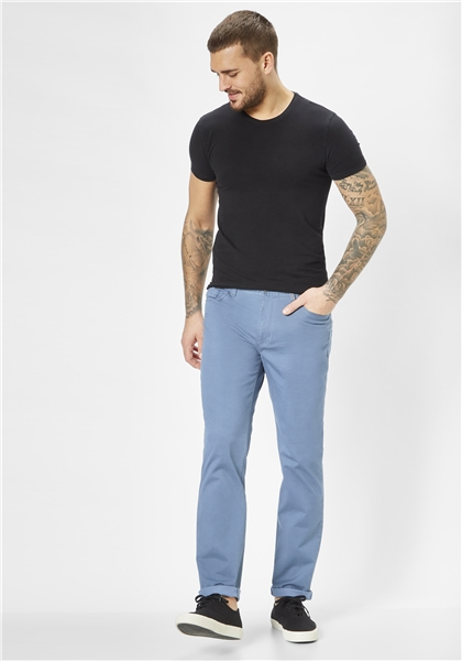 Pantaloni barbati 5 buzunare REDPOINT Milton 6182 albastri [4]