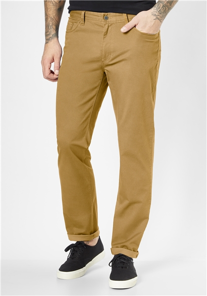 Pantaloni barbati 5 buzunare REDPOINT Milton 6182 galbeni [0]