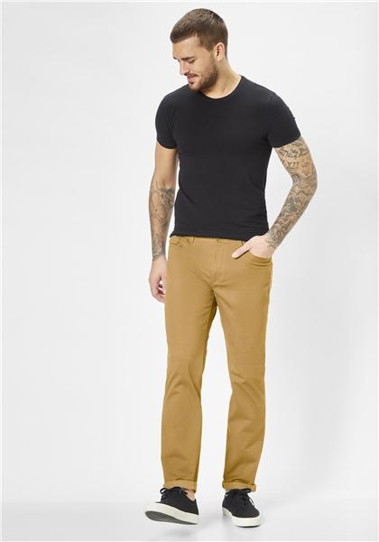 Pantaloni barbati 5 buzunare REDPOINT Milton 6182 galbeni [2]