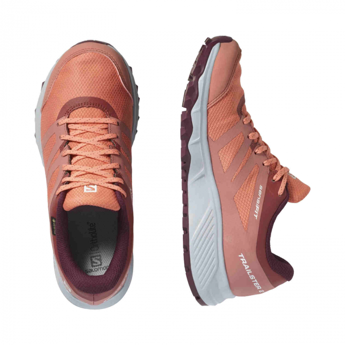 Pantofi alergare femei SALOMON TRAILSTER 2 GTX W caramiziu [3]
