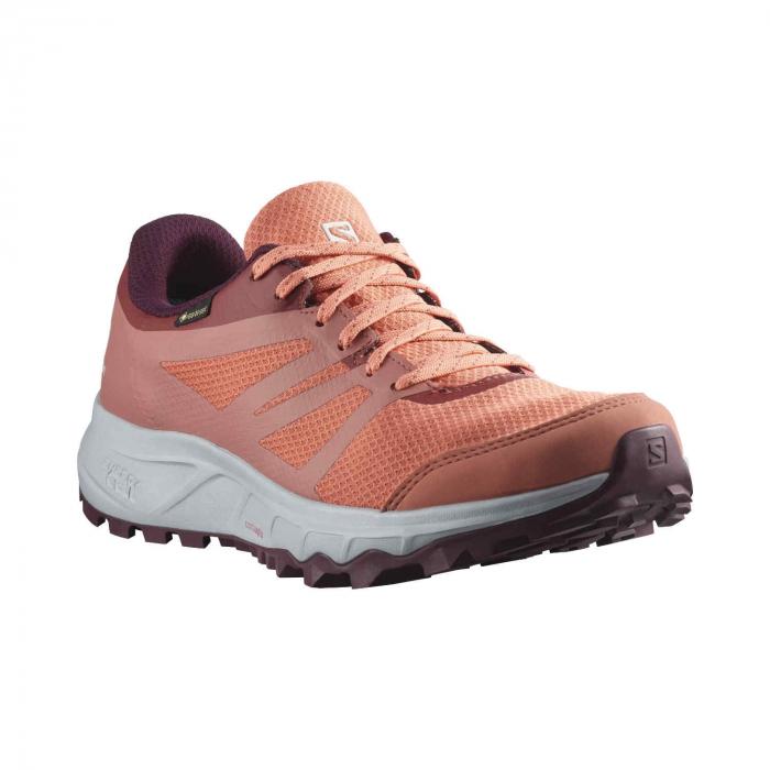 Pantofi alergare femei SALOMON TRAILSTER 2 GTX W caramiziu [2]