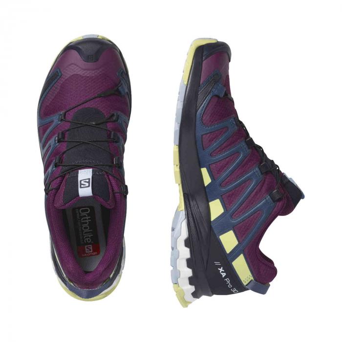 Pantofi alergare femei SALOMON XA PRO 3D v8 GTX W mov [4]