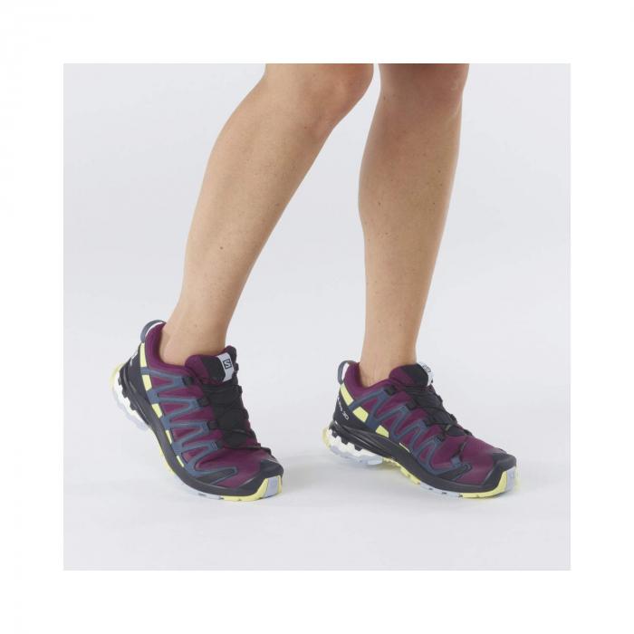 Pantofi alergare femei SALOMON XA PRO 3D v8 GTX W mov [3]