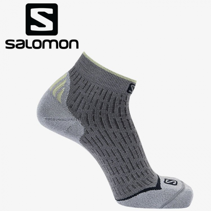 Sosete alergare unisex SALOMON ULTRA ANKLE DX+SX gri [0]