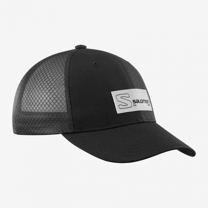 Sapca drumetie unisex SALOMON Cap Trucker Curved Cap neagra [0]