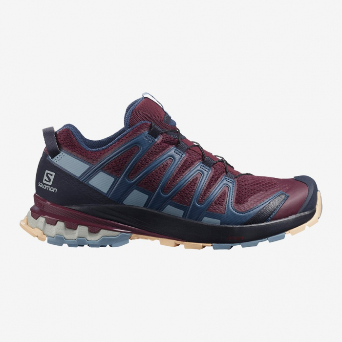 Pantofi alergare femei SALOMON XA PRO 3D v8 visinii [0]