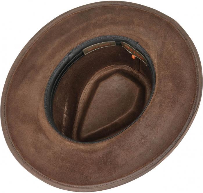 Palarie piele STETSON Western Buffalo maro inchis [1]