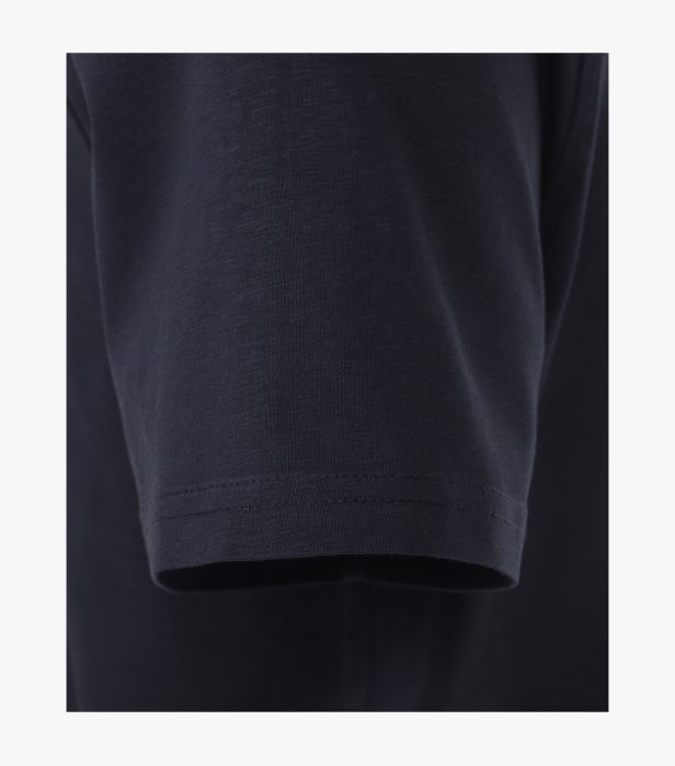 Tricou barbati bumbac organic logo CASA MODA bleumarin [3]