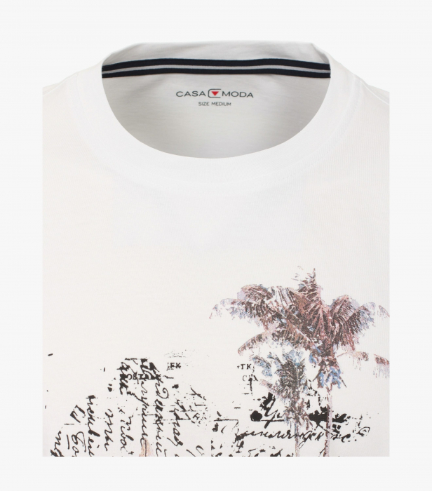 Tricou bumbac barbati CASA MODA alb print California [2]
