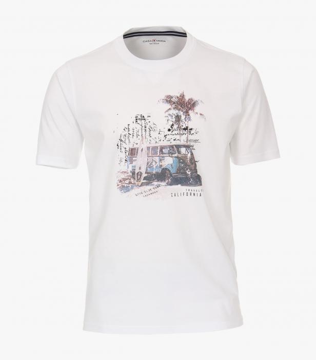 Tricou bumbac barbati CASA MODA alb print California [0]