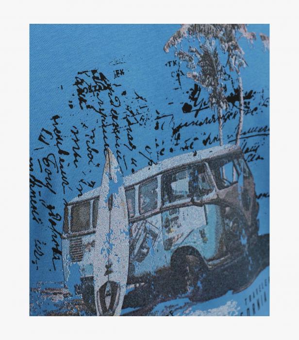 Tricou bumbac barbati CASA MODA albastru print California [3]
