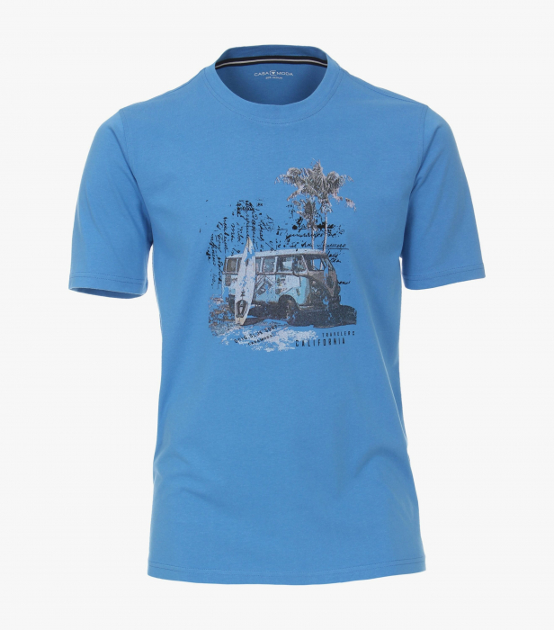 Tricou bumbac barbati CASA MODA albastru print California [0]