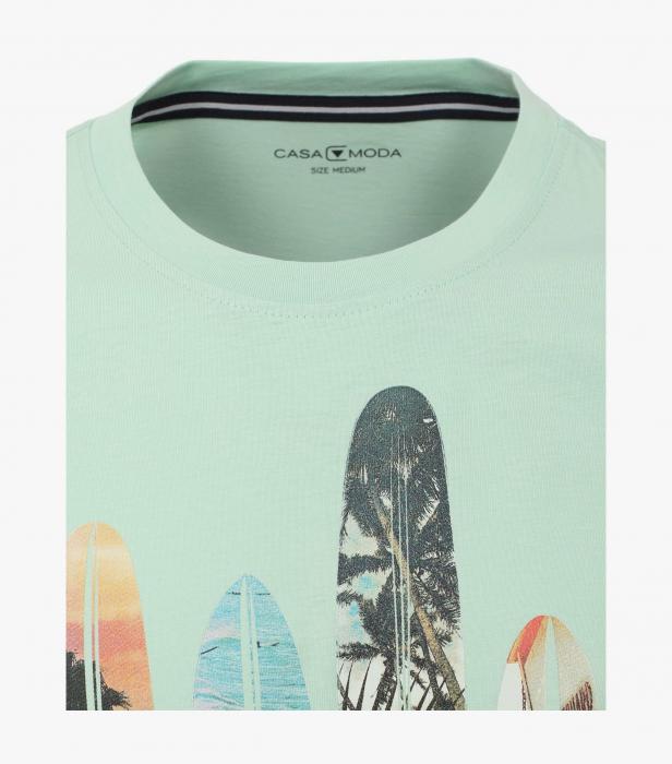 Tricou bumbac barbati CASA MODA turcoaz print California [2]
