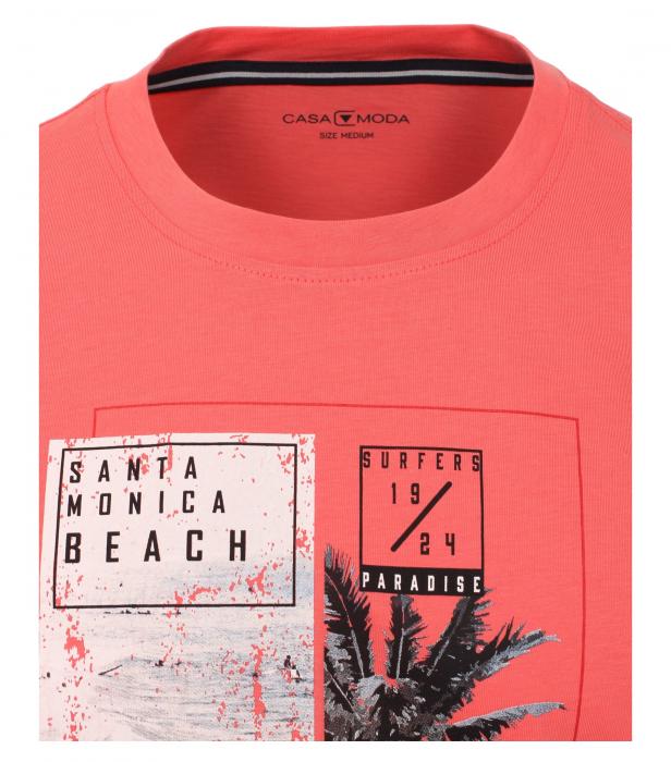 Tricou bumbac barbati CASA MODA rosu print California [2]