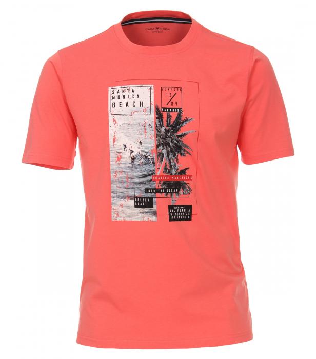 Tricou bumbac barbati CASA MODA rosu print California [0]
