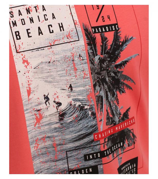 Tricou bumbac barbati CASA MODA rosu print California [3]