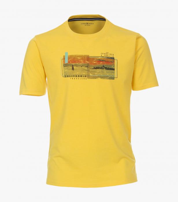 Tricou bumbac barbati CASA MODA galben print California [0]