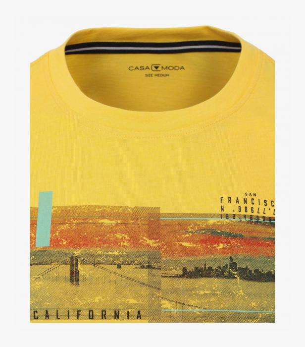 Tricou bumbac barbati CASA MODA galben print California [2]