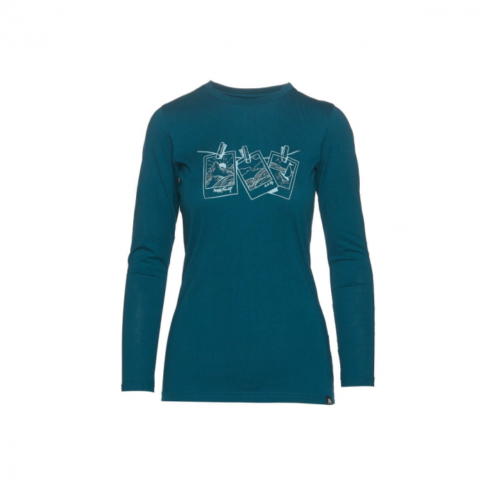 Tricou femei bumbac NORTHFINDER Vanpita albastru [0]
