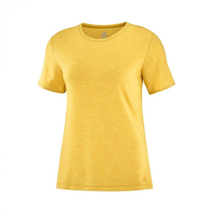 Tricou maneca scurta drumetie femei SALOMON Essential galben [0]