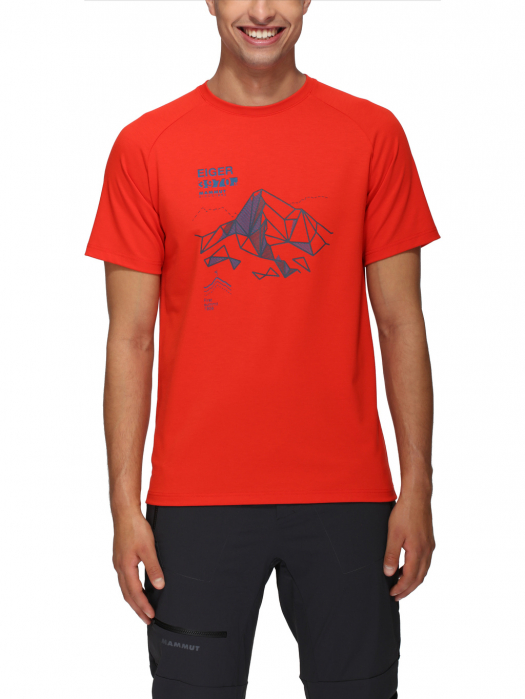 Tricou drumetie barbati MAMMUT Mountain Drirelease® rosu [2]