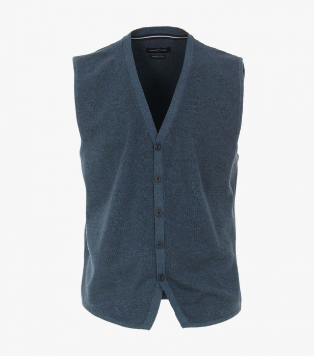 Vesta tricotata cu nasturi barbati CASA MODA aqua/petrol [0]