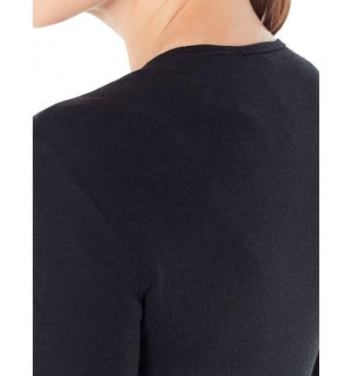 Bluza de corp femei ICEBREAKER 175 Everyday LS Crewe negru [4]