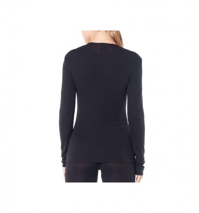 Bluza de corp femei ICEBREAKER 175 Everyday LS Crewe negru [2]