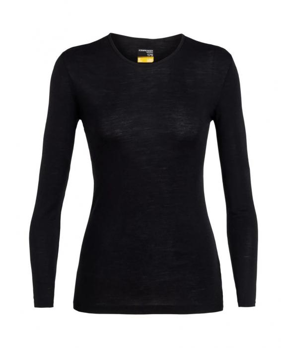 Bluza de corp femei ICEBREAKER 175 Everyday LS Crewe negru [0]