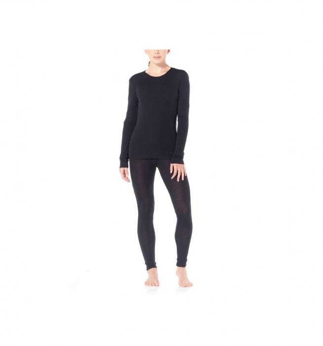 Bluza de corp femei ICEBREAKER 175 Everyday LS Crewe negru [3]