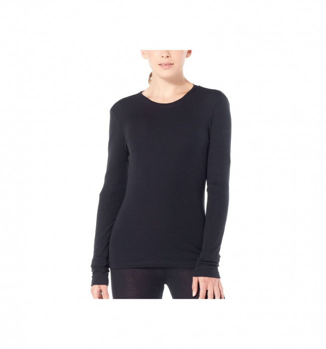 Bluza de corp femei ICEBREAKER 175 Everyday LS Crewe negru [1]