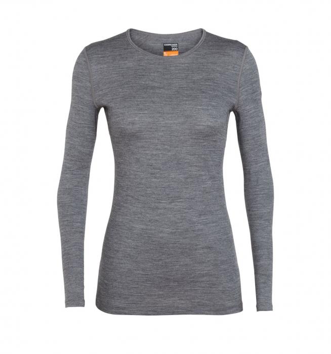 Bluza de corp femei ICEBREAKER 200 Oasis LS Crewe gri [0]
